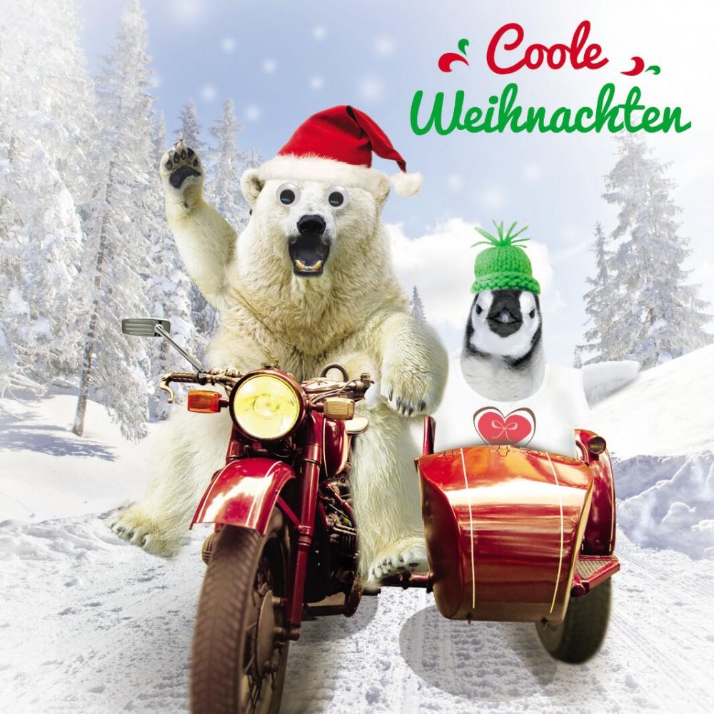 weihnachten humor gru karte googlies wackelaugen motorrad. Black Bedroom Furniture Sets. Home Design Ideas